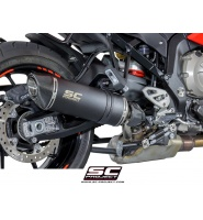 SC Project BMW Oval Silencer in low position Black stainless steel with carbon cap | B23-L01O | sc_B23-L01 - wondertec-jp